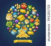 make money poster   Shutterstock .eps vector #591201725