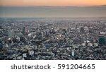 bird's eye view of the city of... | Shutterstock . vector #591204665