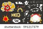 cartoon elements explosions ... | Shutterstock .eps vector #591217379