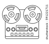 analog stereo open reel tape... | Shutterstock .eps vector #591221711