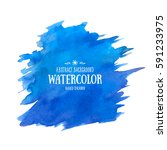 blue abstract aquarelle... | Shutterstock .eps vector #591233975
