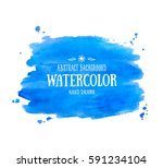 blue abstract aquarelle... | Shutterstock .eps vector #591234104