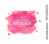pink abstract aquarelle... | Shutterstock .eps vector #591234251
