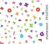 colorful letter pattern on... | Shutterstock .eps vector #591237641