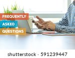 frequently asked questions... | Shutterstock . vector #591239447