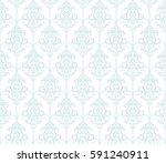 damask seamless pattern... | Shutterstock .eps vector #591240911