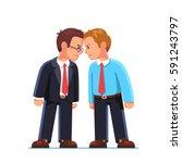 two business men enemies or... | Shutterstock .eps vector #591243797