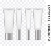 luxury cosmetic bottle set with ... | Shutterstock .eps vector #591261095
