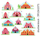 circus tent marquee with... | Shutterstock .eps vector #591261371