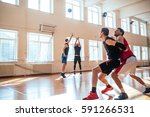 young basketball game player... | Shutterstock . vector #591266531