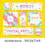 elegant modern flyers and cards ... | Shutterstock .eps vector #591267149