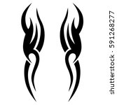 tribal symmetric pattern... | Shutterstock .eps vector #591268277
