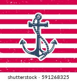 Anchor Symbol With Grunge...