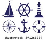 sailing symbols | Shutterstock .eps vector #591268334