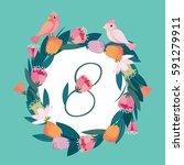8 march women's day   Shutterstock .eps vector #591279911