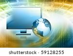 best internet concept of global ... | Shutterstock . vector #59128255