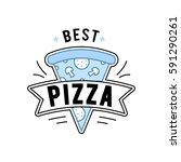 linear flat fast food badge ... | Shutterstock .eps vector #591290261