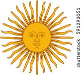sun face. vector illustration | Shutterstock .eps vector #591293051