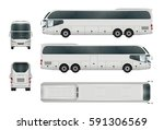 bus template for car branding... | Shutterstock .eps vector #591306569