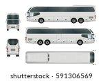 bus template for car branding... | Shutterstock .eps vector #591306569
