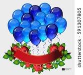 birthday party vector...   Shutterstock .eps vector #591307805