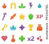 colorful vector gaming icons...