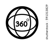 360 degree icon | Shutterstock .eps vector #591313829