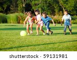 kids playing with the ball | Shutterstock . vector #59131981
