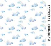 watercolor seamless pattern.... | Shutterstock . vector #591331121