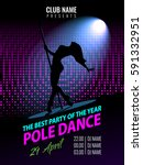 pole dance. party poster... | Shutterstock .eps vector #591332951