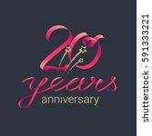 20 years anniversary vector...   Shutterstock .eps vector #591333221