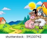 landscape with various farm... | Shutterstock . vector #59133742