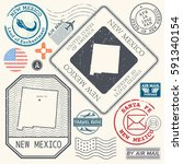 retro vintage postage stamps... | Shutterstock .eps vector #591340154