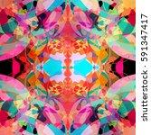 abstract watercolor interesting ... | Shutterstock . vector #591347417