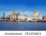 liverpool waterfront with river ...   Shutterstock . vector #591354821