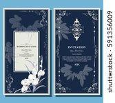wedding invitation card  flyer...   Shutterstock .eps vector #591356009