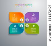 infographic 4 option template... | Shutterstock .eps vector #591372407