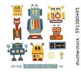 colorful vector clipart set... | Shutterstock .eps vector #591380495