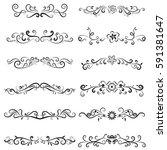 vector of calligraphic design...   Shutterstock .eps vector #591381647