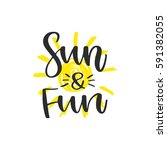 vector hand drawn lettering   ... | Shutterstock .eps vector #591382055