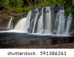 The Manabezho Falls, located in the Porcupine Mountains State Park are part of the Presque Isle River