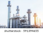 glow light of petrochemical... | Shutterstock . vector #591394655