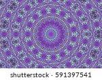 illustration of a kaleidoscope  ... | Shutterstock . vector #591397541