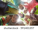 team of summer camp | Shutterstock . vector #591401357