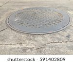Metal Grunge Manhole Cover In...