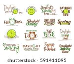 creative lettering set for... | Shutterstock .eps vector #591411095