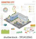flat 3d isometric police... | Shutterstock .eps vector #591412061