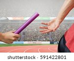 digital composition of athlete... | Shutterstock . vector #591422801