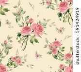 seamless watercolor pattern...   Shutterstock . vector #591424919