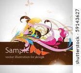 floral background | Shutterstock .eps vector #59143627